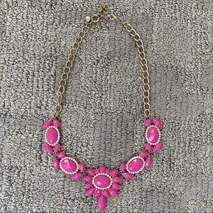 Pink J. Crew statement necklace